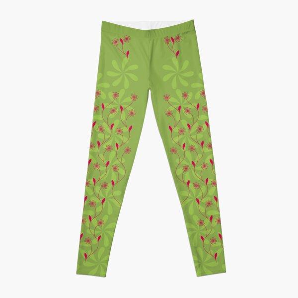 Flowerline – green Leggings
