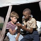 Southfields, New York. Interracial activities at camp Nathan Hale, August 1943 by Marina Amaral