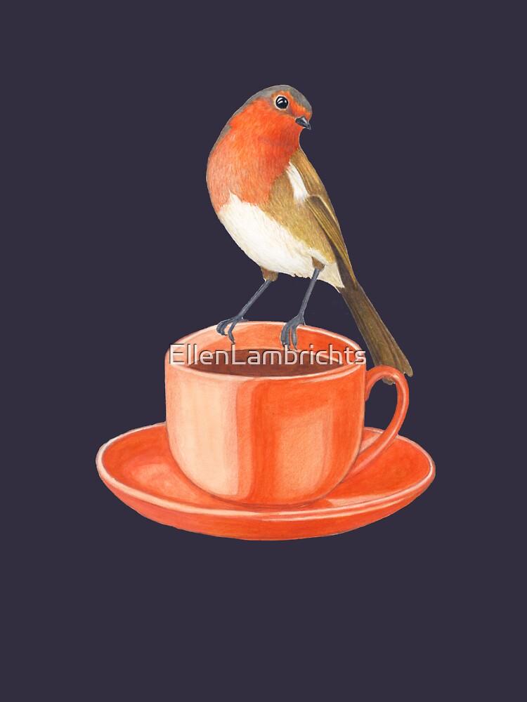 Kaffee liebender Rotkehlchenvogel von EllenLambrichts
