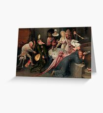 Monstrous feast by Hieronymus Bosch Greeting Card