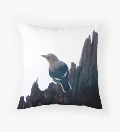 Clark's Nutcracker, Crater Lake Throw Pillow