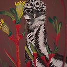 emu with kangaroo paw by caroline ellis