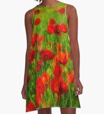 Poppy fields A-Line Dress