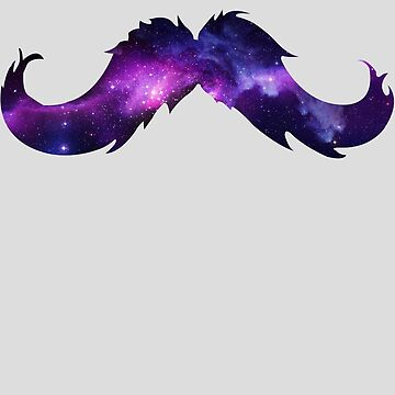 Space Moustache by Manoly