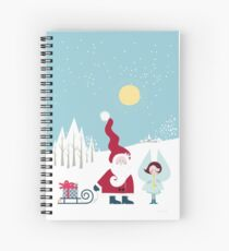 Santa and the Little Angel Spiral Notebook