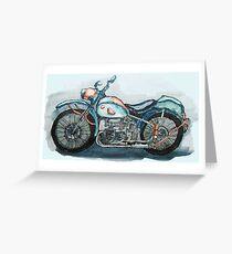 Motorcycle Greeting Card