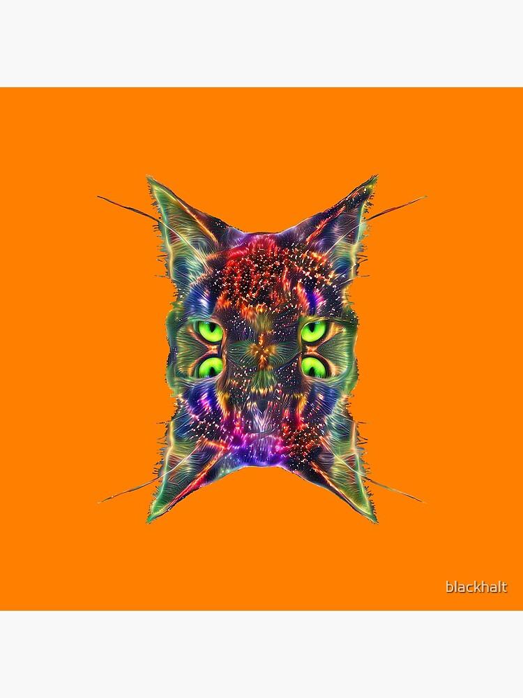 Artificial neural style Space galaxy mirror cat by blackhalt