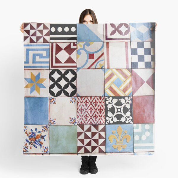 Spanish Tiles Colored Scarf