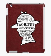 Sherlock's Hat Rant - Dark iPad Case/Skin
