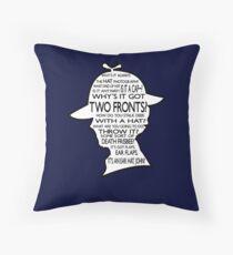 Sherlock's Hat Rant - Dark Throw Pillow