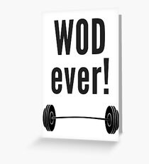 WODever!  Workout-Inspired Novelty Gear Greeting Card