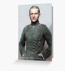 Manfred von Richthofen, the Red Baron Greeting Card