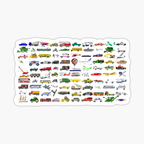 100 Vehicles - The Kids' Picture Show Sticker
