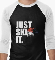 Just Ski It Men's Baseball ¾ T-Shirt
