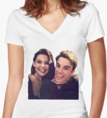 kol and davina - the originals Women's Fitted V-Neck T-Shirt