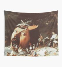 Horrific landscape from Hieronymus Bosch Wall Tapestry