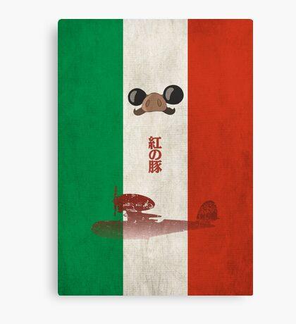 Ghibli Minimalist 'Porco Rosso' Canvas Print
