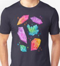 Watercolor Crystals // Black T-Shirt