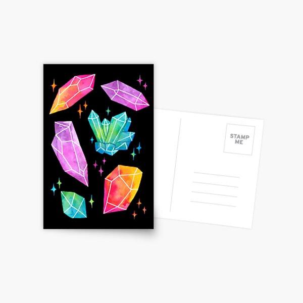 Watercolor Crystals // Black   Nikury Postcard