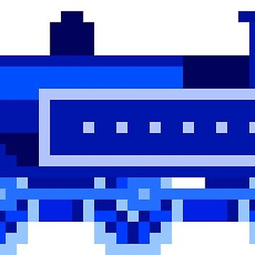 Blue Locomotive - The Kids' Picture Show - 8-Bit Train by KidsPictureShow