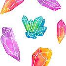 Watercolor Crystals by nikury