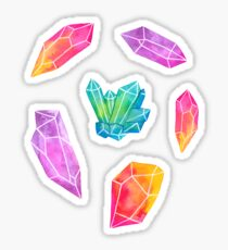 Pegatina Cristales de acuarela