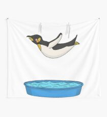 Carefree Penguin Wall Tapestry