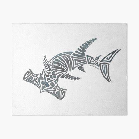 Tribal Hammerhead Shark Art Board Print