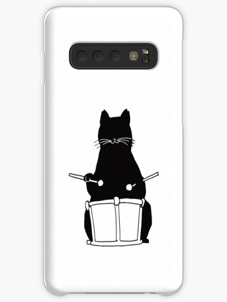 'Black Cat Snare Drums Emoji Funny Drumming Gift' Case/Skin for Samsung  Galaxy by JapaneseInkArt