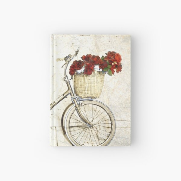 Bike and flowers Hardcover Journal