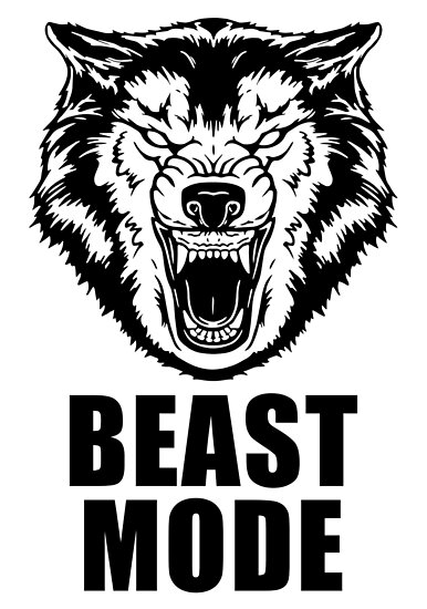 Beast Mode Gym Fitness Wolf Poster By Maniacfitness