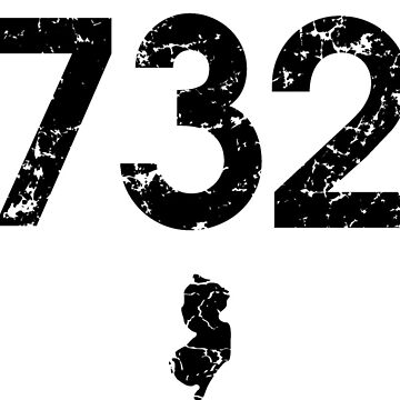 Area Code 732 New Jersey by BearSquared