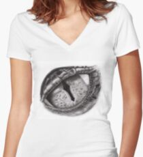 Smaugs Drachenauge  Women's Fitted V-Neck T-Shirt