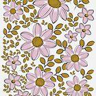 vintage floral pattern by demonkourai