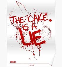 Der Kuchen ist eine lie Poster
