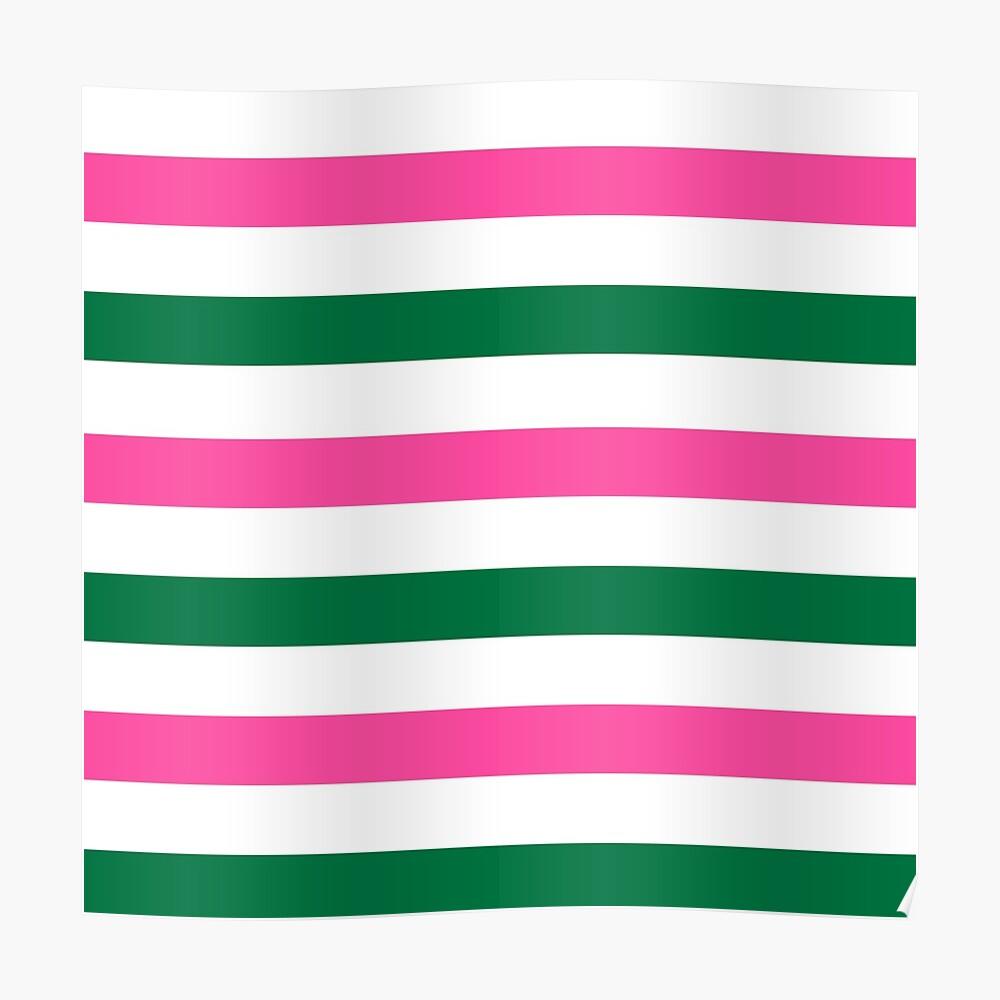 Deckchair Stripes Poster