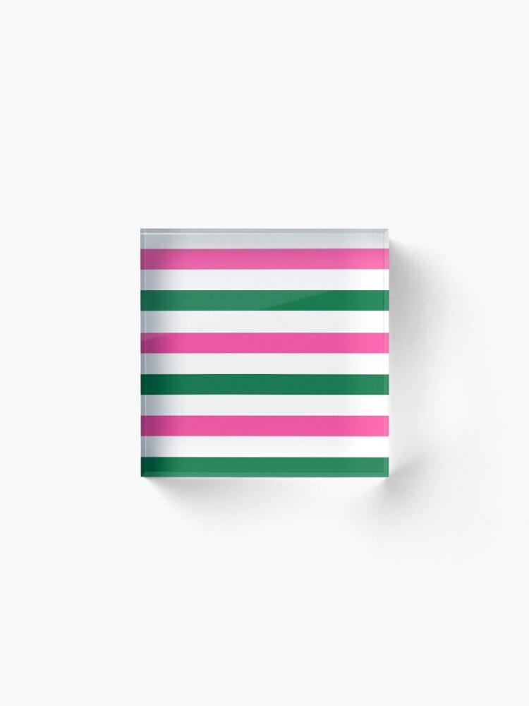 Alternate view of Deckchair Stripes Acrylic Block