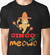 Funny Cinco De Meowo T-Shirt  Cat dancing Graphic T-Shirt