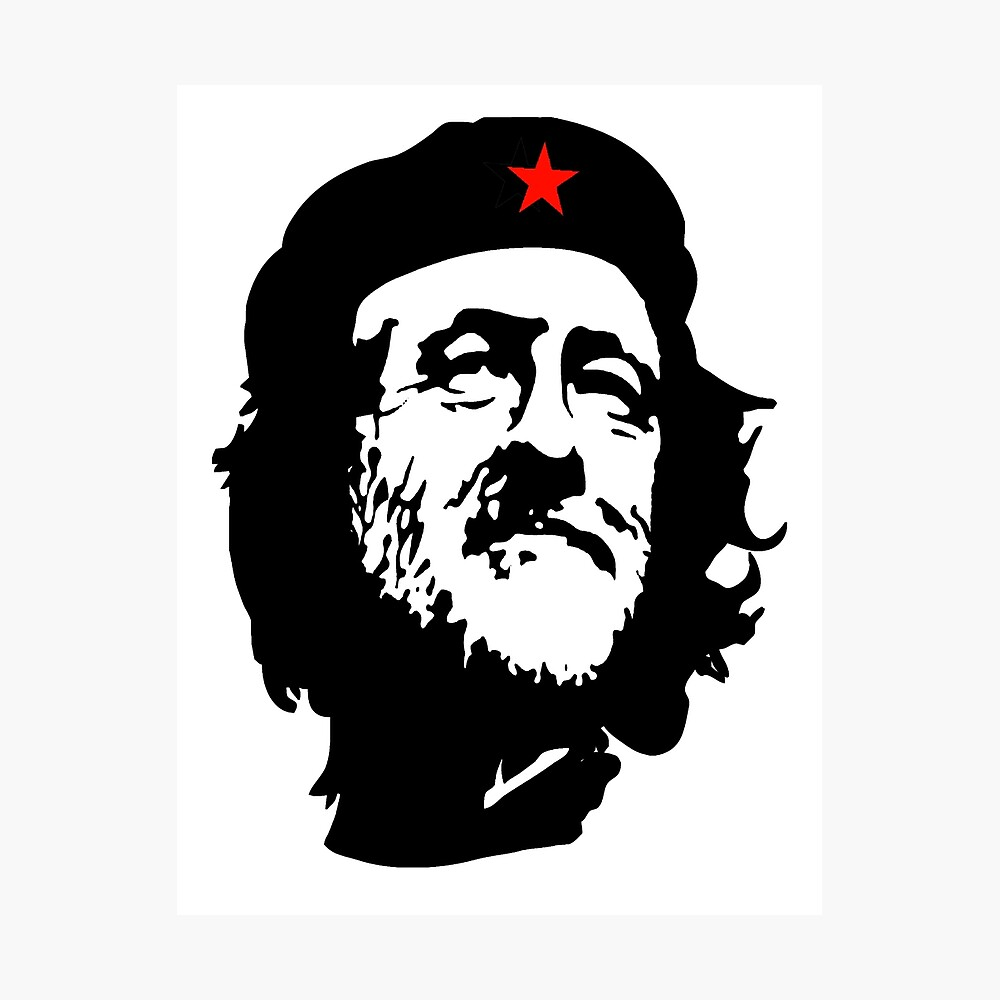 CORBYN, Comrade Corbyn, Election, Leader, Politics, Labour Party, Black on White Fotodruck