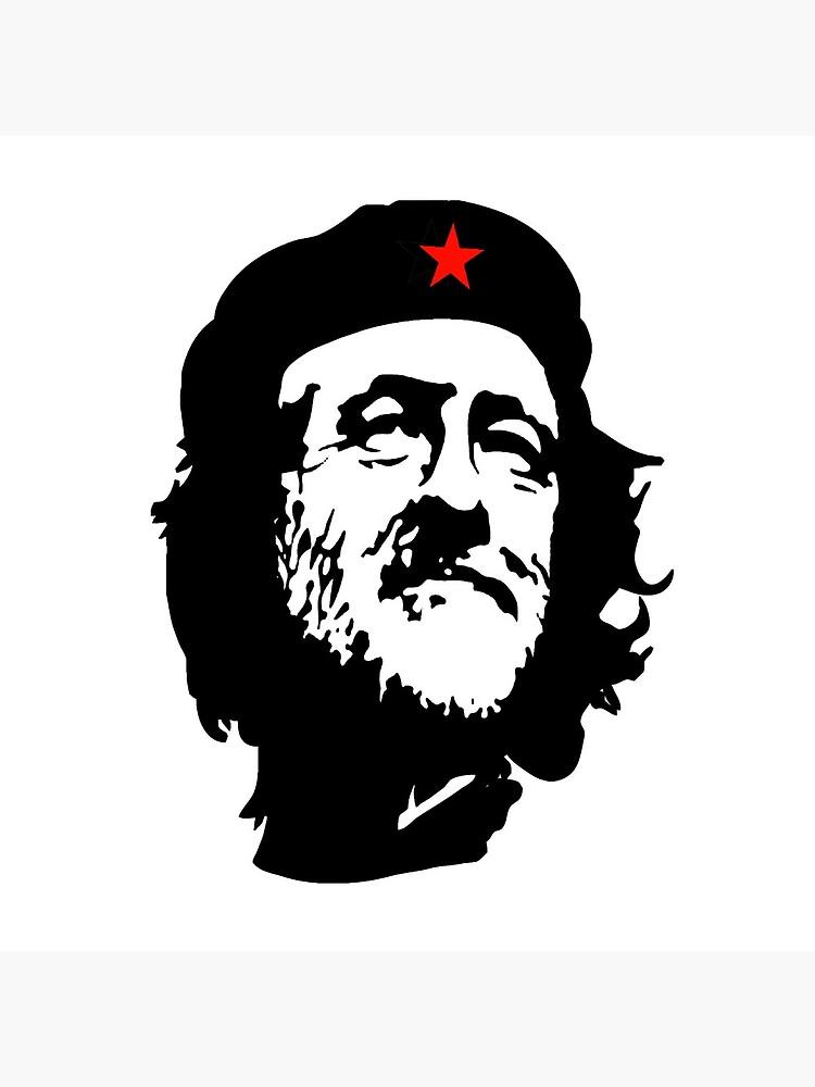 CORBYN, Comrade Corbyn, Election, Leader, Politics, Labour Party, Black on White von TOMSREDBUBBLE