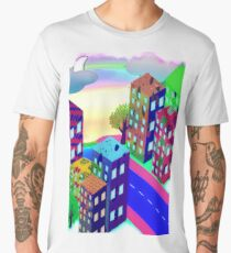 Abstract Urban At Night Men's Premium T-Shirt