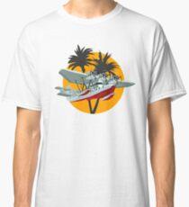 Cartoon Retro Sea Plane Classic T-Shirt