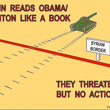 Putin Reads Obama & Clinton by AirbrushedArt