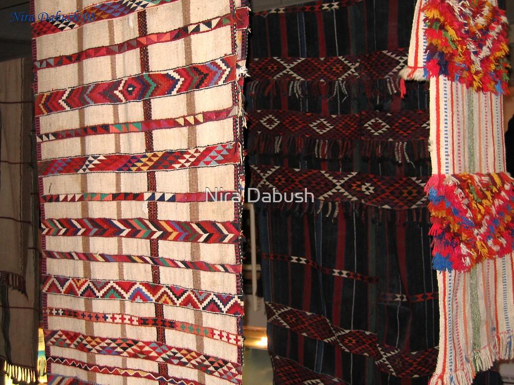 Rugs made by Bedouins wemen at the Negev, Israel by Nira Dabush