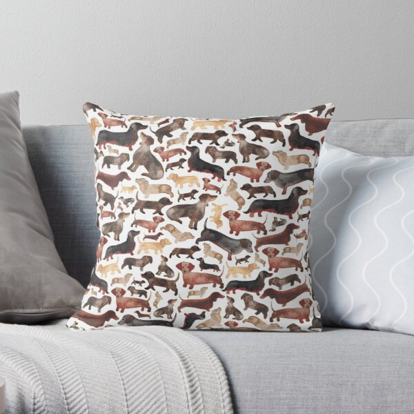 Dachshunds or Sausage Dogs Throw Pillow