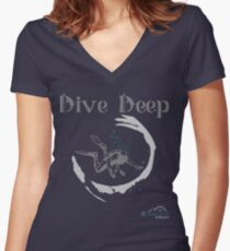 Dive Deep Women's Fitted V-Neck T-Shirt