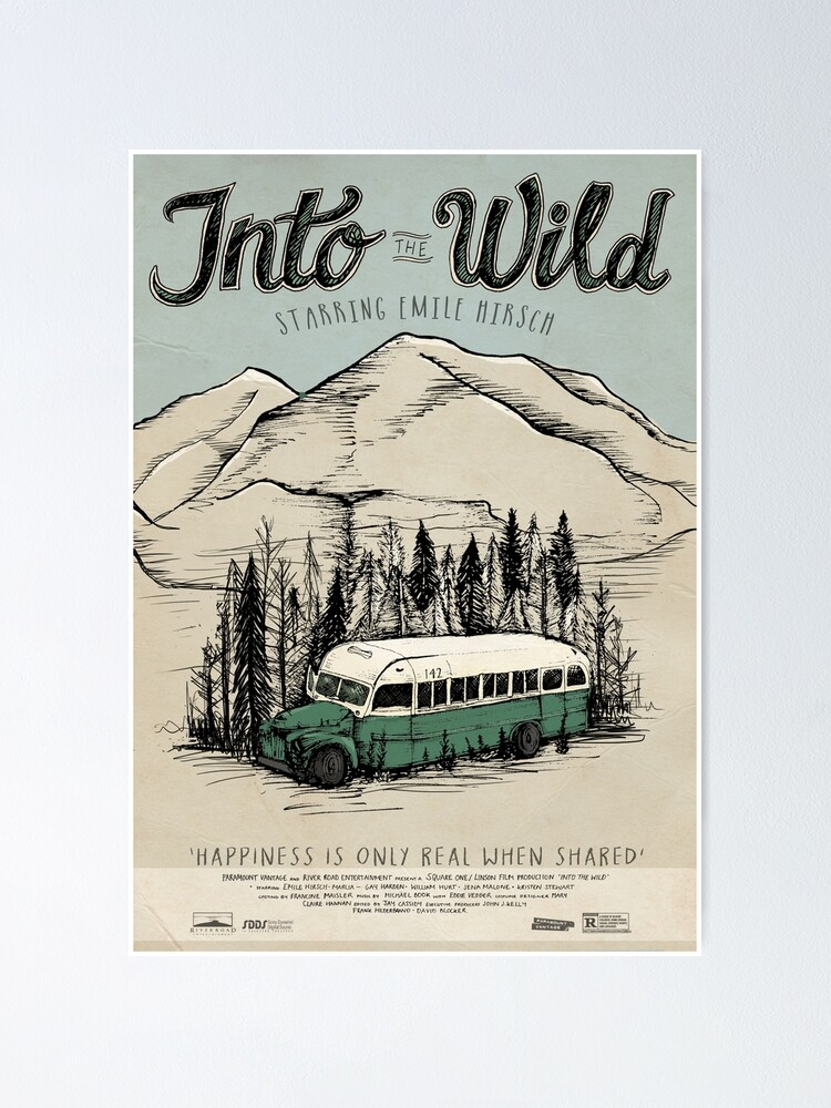 Alternate view of Into The Wild Illustrated Film Poster Poster