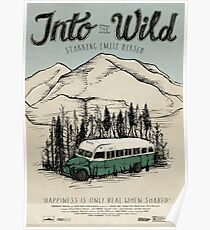Into The Wild Illustrated Film Poster Poster