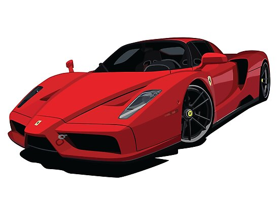 Quot Ferrari Enzo Cartoon Quot Photographic Print By Toonmyride Redbubble
