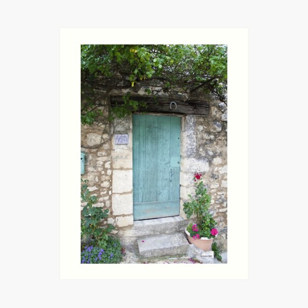 Blue Door Kunstdruck